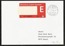 Schweiz Einschreib-Express Label auf Brief vom 1.11.95, Ersttag?