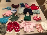 Massive Lot Of Doll Clothes Variety Of Sizes And Styles Total 51 Pieces