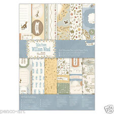 Papermania A4 Ultimate Die Cut & Papel 48 Hoja Pack Cuentos De Madera Willson