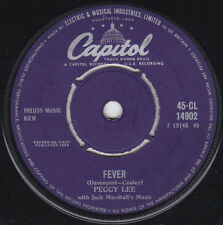 "Peggy Lee Fever b/w You Didn't Know 1958 EP 7"" 45rpm UK rare vinyl record (fair)"