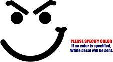 "Smirk Face Bon Jovi Decal Sticker JDM Funny Vinyl Car Window Bumper Truck 6"""