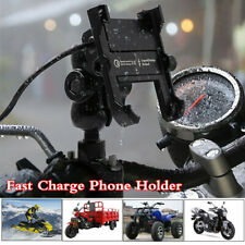 Waterproof CNC USB Intelligent Fast Charge Phone Stand For Motorcycle Handlebar