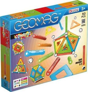 GEOMAG CONFETTI 50 PCS ((BLUE - RED -ORANGE - GREEN)