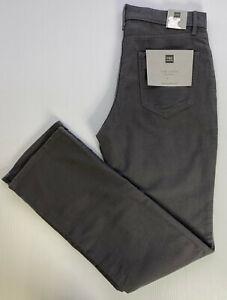 "M&S Collection Regular Fit Italian Moleskin Chino's Grey W30"" L33"" Long RRP £45"