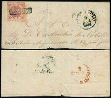 ITALY 1860, TWO CICILIA, G 2 VALUE ON ENTIRE FOLD COVER TO ( ? )..  #Z152