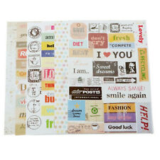 New 6pcs Retro Calendar Paper Stickers for Scrapbooking Diary Planner Sticky FR