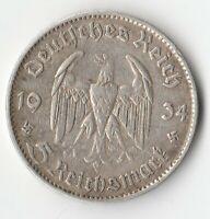 Allemagne 5 REICHSMARK 1934 F STUTTGART- argent - GERMANY - Deutschland