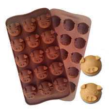 Pig Bacon Hough Funny Silicone Soap mold Candy Chocolate Fondant Tray ICE Cube