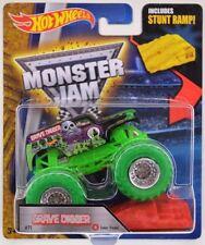 """ GRAVE DIGGER COLOR GREEN TREADS WHEELS "" MONSTER JAM TRUCK CARS RARE"