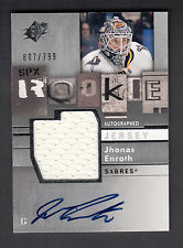 Jhonas Enroth 2009-10 SPX Rookie Jersey & Autograph Card #157 Sabres 607/799