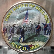 "COLORIZED JFK HALF DOLLAR,""THE FIRST BATTLE OF BULL RUN"""
