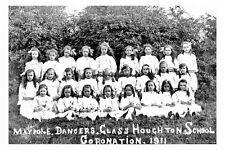 pt5710 - Glasshoughton School Maypole Dancers 1911 , Yorkshire - photo 6x4