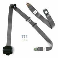 3pt Bench Seat Belt Conversion/Replacement Grey Retractable Standard Buckle Ea.