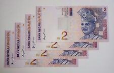 Malaysia Money Currency Banknotes RM2 Ahmad Don 4 pcs RN CP4148877>>8880 UNC