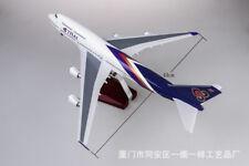 47cm 1/150 THAI Airplane LED Light Bone 747 Airplane Model Passenger Plane Toy