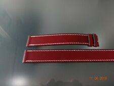 Burgundy / Dark Red 19 mm New Hermes Oem Genuine Calf skin double wrap strap