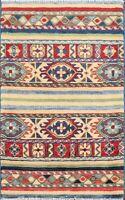 Traditional Super Kazak Handmade Vegetable Dye Oriental Wool Area Rug 2x3 Carpet