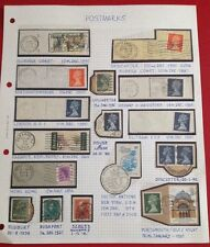 Stamp Album Page - Postmarks - 18 - stamps - worldwide - not hinged