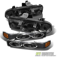 1998-2004 Chevy S10 Blazer Smoked Headlights +Bumper Signal Lamps Lights 98-04