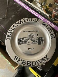 Indianapolis Motor Speedway / Indy 500 1987 pewter collector plate 416/1000