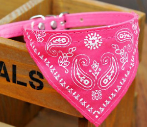 Pink Pet Dog Bow Tie Collars Dog/Cat Necklace Scarf Cute Printing Collar 2.5cm