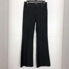 Bisou Bisou Womens Jeans Michelle Bohbot Black Flare Leg Size 4
