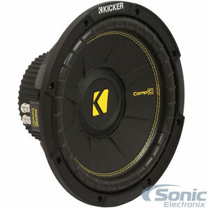 "KICKER 600W 12"" Comp C Single 4-Ohm Car Subwoofer 