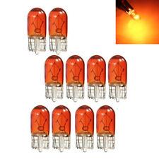 10pcs T10 Amber Wedge Interior Auto Side Light Dashboard Dash Panel Gauge Bulbs