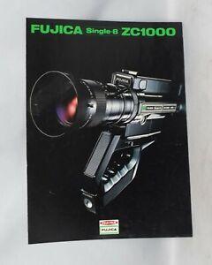 Fuji Film Fujica Single 8 ZC1000 Movie Film Camera Brochure Pamphlet