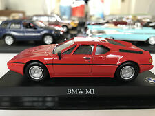 1:43 DEL PRADO BMW M1 RED DIECAST MODEL