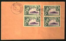 PITCAIRN ISLANDS 1957 LAST DAY COVER GEORGE VI STAMPS VF