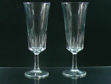 GLASSESS CHAMPAGNE SET OF 2 CRYSTAL CUT MADE IN FRANCE