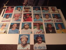 Lot of 20 1980 Topps Junbo Baseball Cards Dark Backs