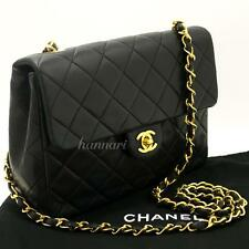 CHANEL Authentic Mini Small Chain Shoulder Bag Crossbody Black Quilted Flap g45