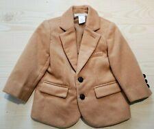 Janie & Jack Boys Toddler 12-18 Months Camel Tan Wool Lined Blazer Jacket  EUC