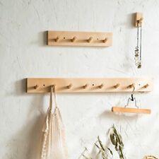 Log Coat Hook Natural Wooden Wall Hanger Hat Clothes Bag Rack Shelf Key Holder