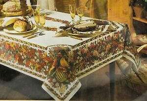 Holiday Home Statements Tablecloth Gathering Fall Thanksgiving 60X84 Oblong