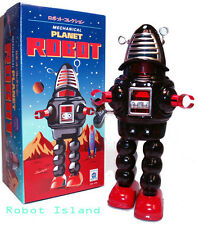 Planet Robot Black Schylling Tin Toy Windup Robby the Robot - Summer SALE!