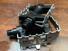 VINTAGE OLD SCHOOL RACING PEDALS 9/16 ALLOY WITH NYLON BODY CHROMO AXLES