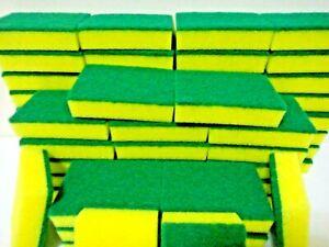 Lot of 24 pcs Sponge Scrubber Scrub Scourer Wash Clean Dish Pads Bulk KITCHEN