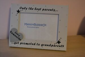 Personalised handmade best parents get promoted to grandparents Photo Frame 6X4