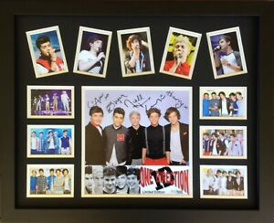 New ONE DIRECTION  Signed Limited Edition Memorabilia Framed comes COL