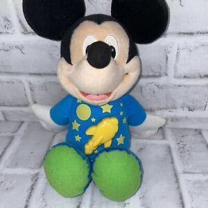 "Fisher Price Talking Mickey Mouse Bedtime plush 13"" light rocket sounds 2011 EUC"