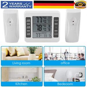 Thermometer Gefrierschrank Funk Digital Kühlschrank Temperatur Alarm + 2 Sensor