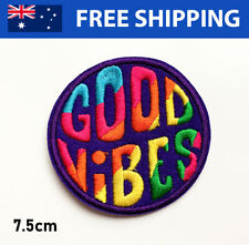 Good Vibes Embroidered Patch - Embroidery Patches Iron Sew On Badge