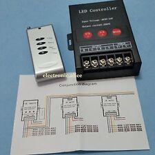 4 keys 5V-24V 30A RF Wireless Remote control RGB led Controller 19Modes 30Meter