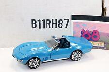 Franklin Mint 1/24 1968 Chevrolet Corvette Stingray Coupe Le Mans Blue - B11RH87