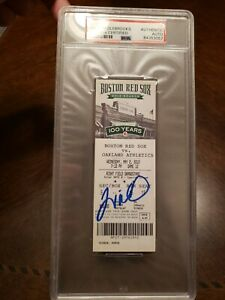 Will Middlebrooks Signed MLB Debut Ticket May 2 2012 PSA DNA Boston Red Sox