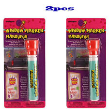 2 Pcs RED Color Window Markers Temporary Paint for Car or Home Glass Windows