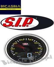 4619 - CONTACHILOMETRI DIGITALE SIP NERO VESPA CORNICE CROMATA  PX 125 150 200